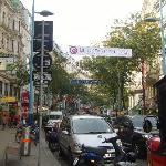 Mariahilfer Strasse, modern shopping street in Vienna