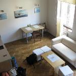 Studencka apartment (view from mezzanine bedroom)