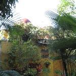 chambre vue du patio