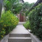 path to the door of the villa
