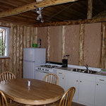 Inside a typical cabin on Loch Island