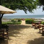 Outdoor eating near beach