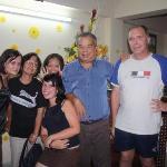 une famille heureuse à l'Hotel Annam