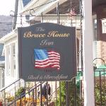 The sign outside of the B&B