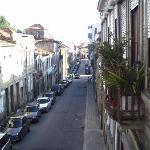 Vue du balcon de notre chambre (en bas : Porto centre)