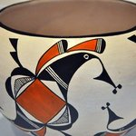 Acoma Pottery Displayed in Visitor Center Museum