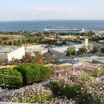 百花壇からホテルと海
