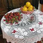 Con detalles en frutas