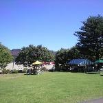 青々とした芝生の広場
