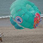 PARASAILING ON THE BEACH!
