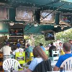 Tiki Bar with TVs for Sat College Games