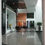 corridor to restaurant