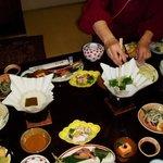 Preparando el calde para el sukiyaki