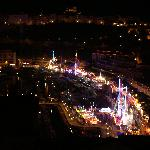 Night view from our room of the funfair