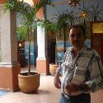 Senor Alberto in his hotel lobby