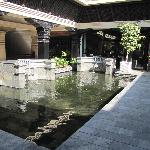 The hotel's front entrance
