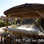 Hot Tub in walled garden