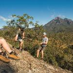 Abseiling at Mt Barney Lodge - photo courtesy of Tourism Qld