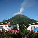 View of the rooms with Volcan Arenal in the back