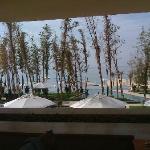 view from restaurant, breakfast