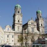 Outside St. Stevens church in Passaul.
