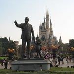 The castle, Walt Disney and Halloween decorations