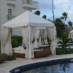 Canopy by the pool.
