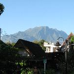 Mountain in the background