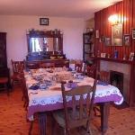 Breakfast table after breakfast