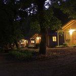 standard cabins at night