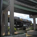 Transportation Intersection: Canal, Train and Roadway in Richmond