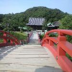 太鼓橋の向こうの本堂