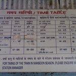 Neral-Matheran-Neral Timetable :)