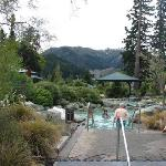 The hot springs