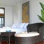 luxury bedrooms in the villas