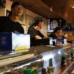 Master sushi chefs at Yanagi.  Pismo Beach, CA.