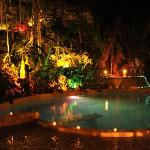Pool and Jacuzzi at night