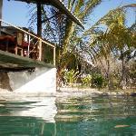 Restaurant terrace overlooking the pool