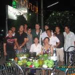 Mekong locals with us at nearby restaurant