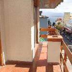 el balcon doble, muy comodo y con vista lateral al lago