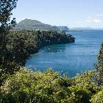 View of Lake Taupo from the verander