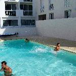 vue de la piscine extérieure