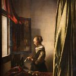 Zwinger Old Masters' icons: Johan Vermeer - A Girl Reading a Letter by an Open Window