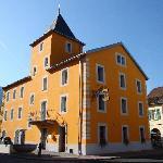 Distinct Exterior of Hotel de la Poste w/its Cheery Yellow Facade