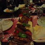 The Plank filled with Lamb Mixed Grill