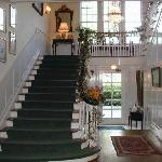 Beautiful interior staircase, to lodging rooms and suites