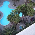 Pool view from our room