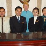 Front Desk Staff (PT Phong 2nd from left)