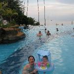 Infinity pool, pool bar..  beach views