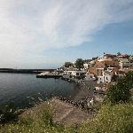 view from the garden to the port of Rinella